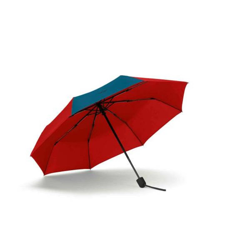 Parapluie MINI pliable avec couleur contraste (Noir / Vert)