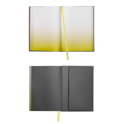 Bloc-notes gris/jaune MINI