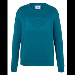 MINI Sweatshirt Femme Wing Logo Emb, bleu Islande, L