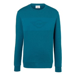 MINI Sweatshirt Homme Wing Logo Emb, bleu Islande, L