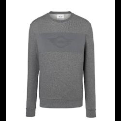 MINI Sweatshirt Homme Wing Logo Emb, gris, L