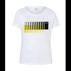 MINI T-Shirt Femme Wing Logo 3D Stripes, blanc, L