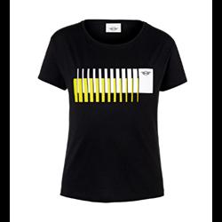 MINI T-Shirt Femme Wing Logo 3D Stripes, noir, L