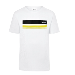 MINI T-Shirt Homme Wordmark 3D Stripes, blanc, L