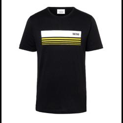 MINI T-Shirt Homme Wordmark 3D Stripes, noir, L