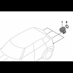 Capteur à ultrasons Argent Dark MINI R50, R52, R53