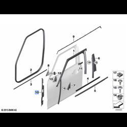 Joint de montant A (côté au choix) MINI Clubman F54