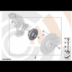 Kit réparation roulement de roue avant (Value Line) MINI