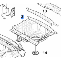 Plancher de coffre arrière MINI R55