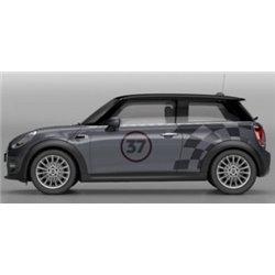 """Bandes latérales décoratives """"JCW PRO RACING"""" pour MINI F56 (3 portes) et MINI F55 (5 portes)"""