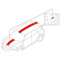 Bandes Sport (couleur au choix) pour MINI Countryman F60