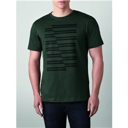 T-Shirt Homme Bandes MINI JCW Racing Green