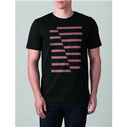 T-Shirt Homme Bandes MINI JCW Noir