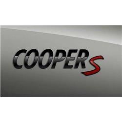 """Logo de coffre Mini """"Piano Black"""" Cooper S"""" (F54 F55 F56 F57 F60)"""