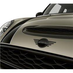 """Logo de capot MINI """"Piano Black"""" F55 (5 portes) F56 (3 portes) F57 (cabriolet)"""